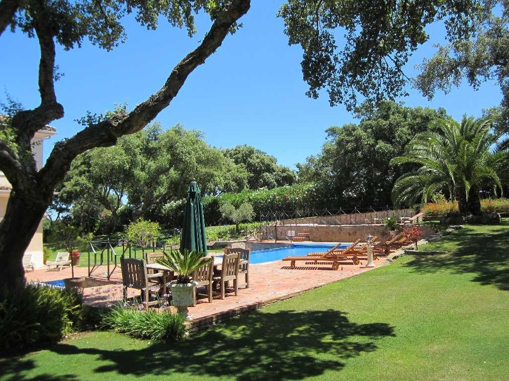 Gardens, pool and outside dining